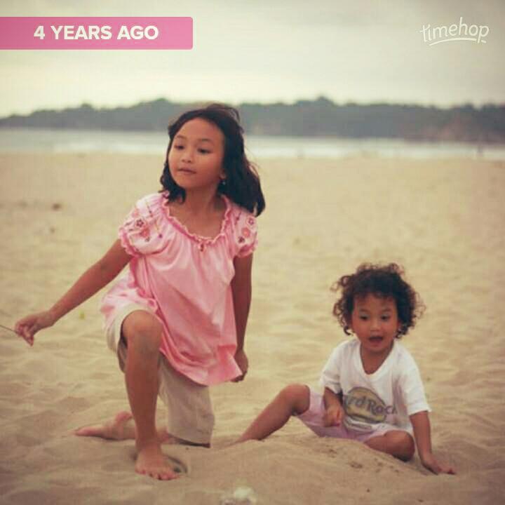 Pantai sawarna 4 tahunlalu